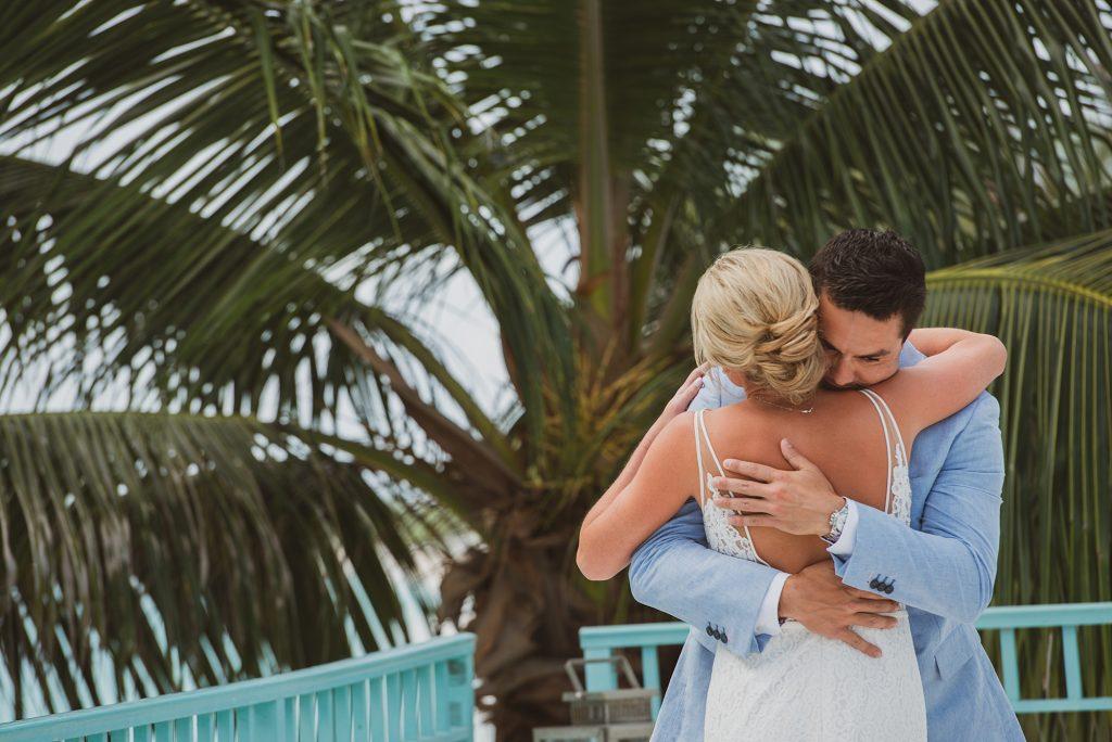 First Look Grand Cayman Wedding