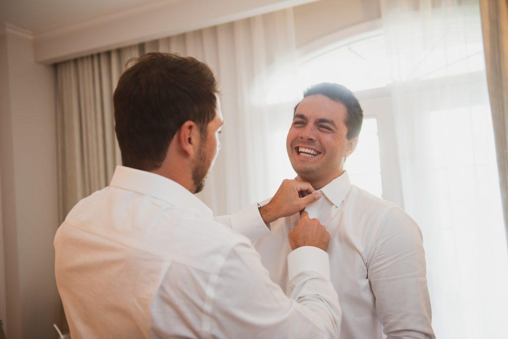 groom at cayman islands wedding