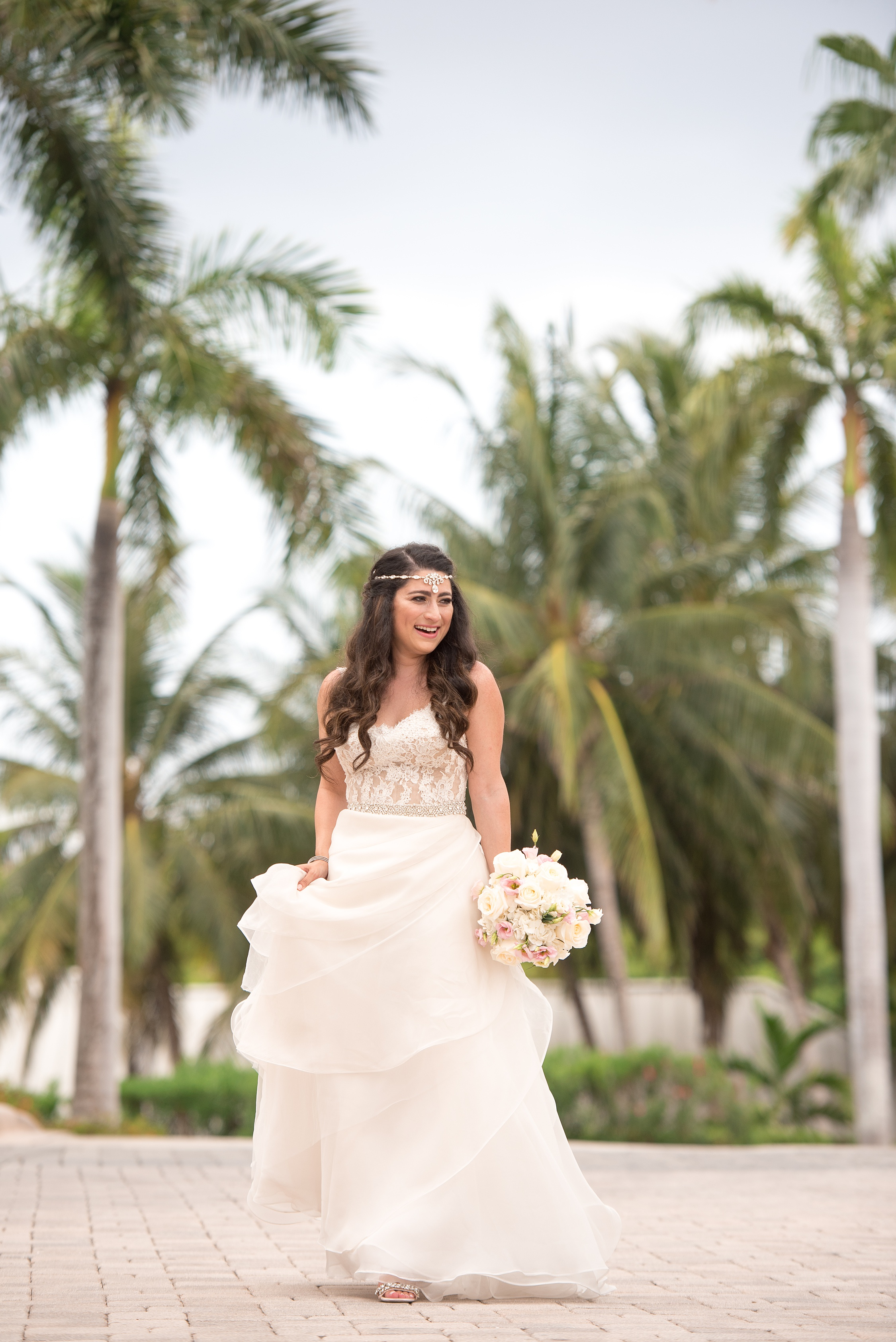 grand cayman bridal portrait