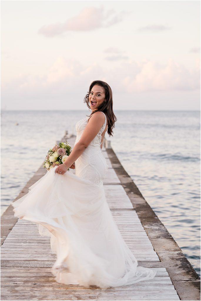 stylish cayman bride