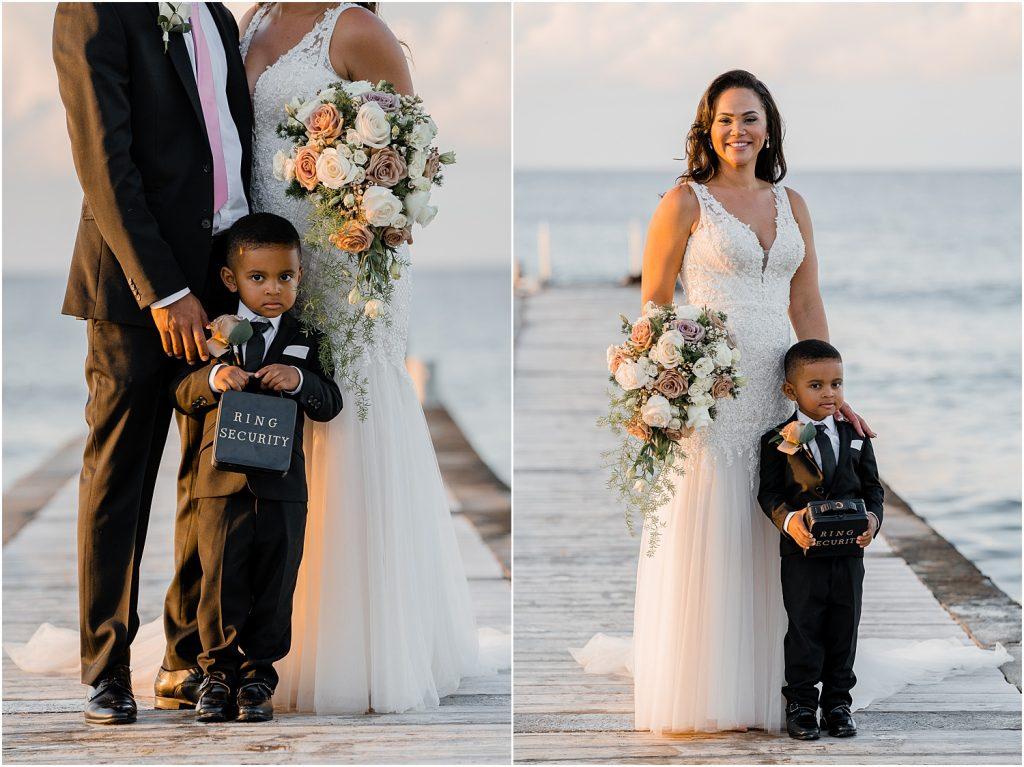 stylish grand cayman wedding
