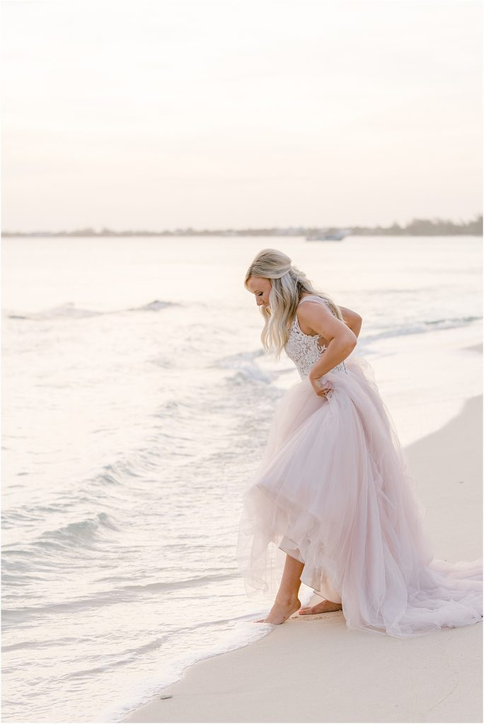 barefoot bride cayman islands wedding