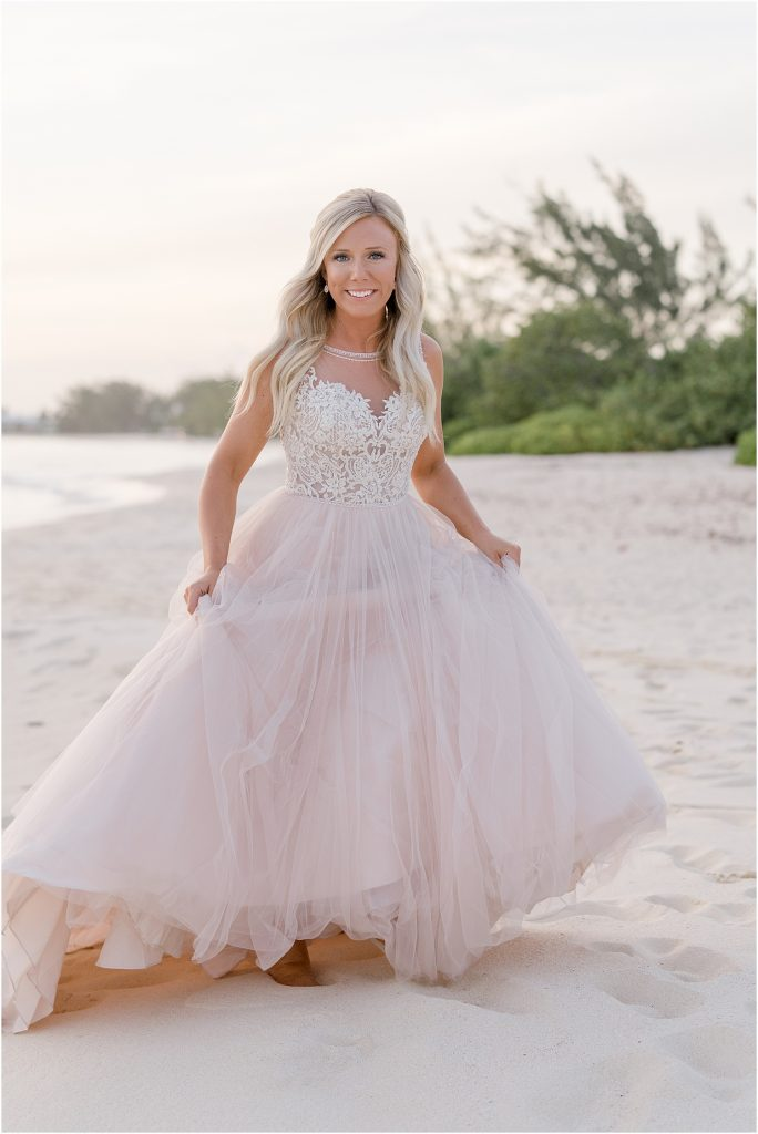 blush pink wedding dress
