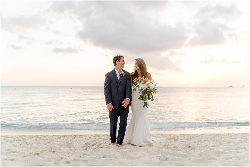 elegant cayman beach wedding