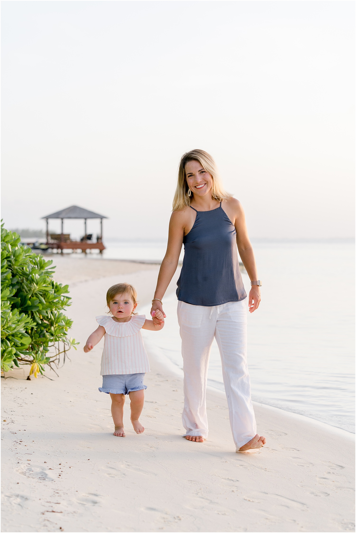 mother and daughter beach session